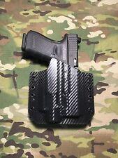 Black Carbon Fiber Kydex Light Holster Glock 19/23 Streamlight TLR-4 Laser Light