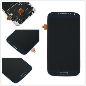 Blue-For-Samsung-Galaxy-S4-i9505-Full-LCD-Display-Touch-Screen-Digitizer-Frame