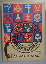 Branchen -Fernsprechbuch Bezirk Karl-Marx-Stadt Deutschen Post 1986