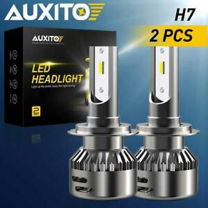 2X H7 LED Headlight Kit 9000LM High or Low Beam Bulbs 6500K Bright VS Xenon HID