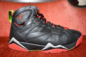 7aff669b470 Nike Air Jordan 7 VII Retro Marvin The Martian Black 304775 029 Size ...