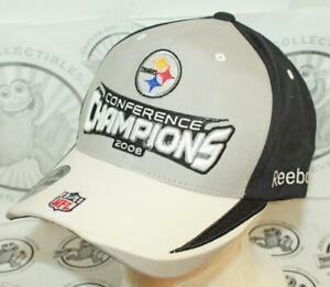 4ea0c5077 PITTSBURGH STEELERS REEBOK NFL XLIII AFC CONFERENCE CHAMPIONSHIP CAP ...