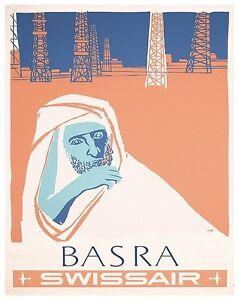 """Basra Iraq Art Travel Poster Vintage Decor Print 12x18/"""" XR416"""
