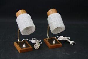 Set-2-X-Old-Bedside-Table-Lamp-Light-E14-Old-S-Vintage