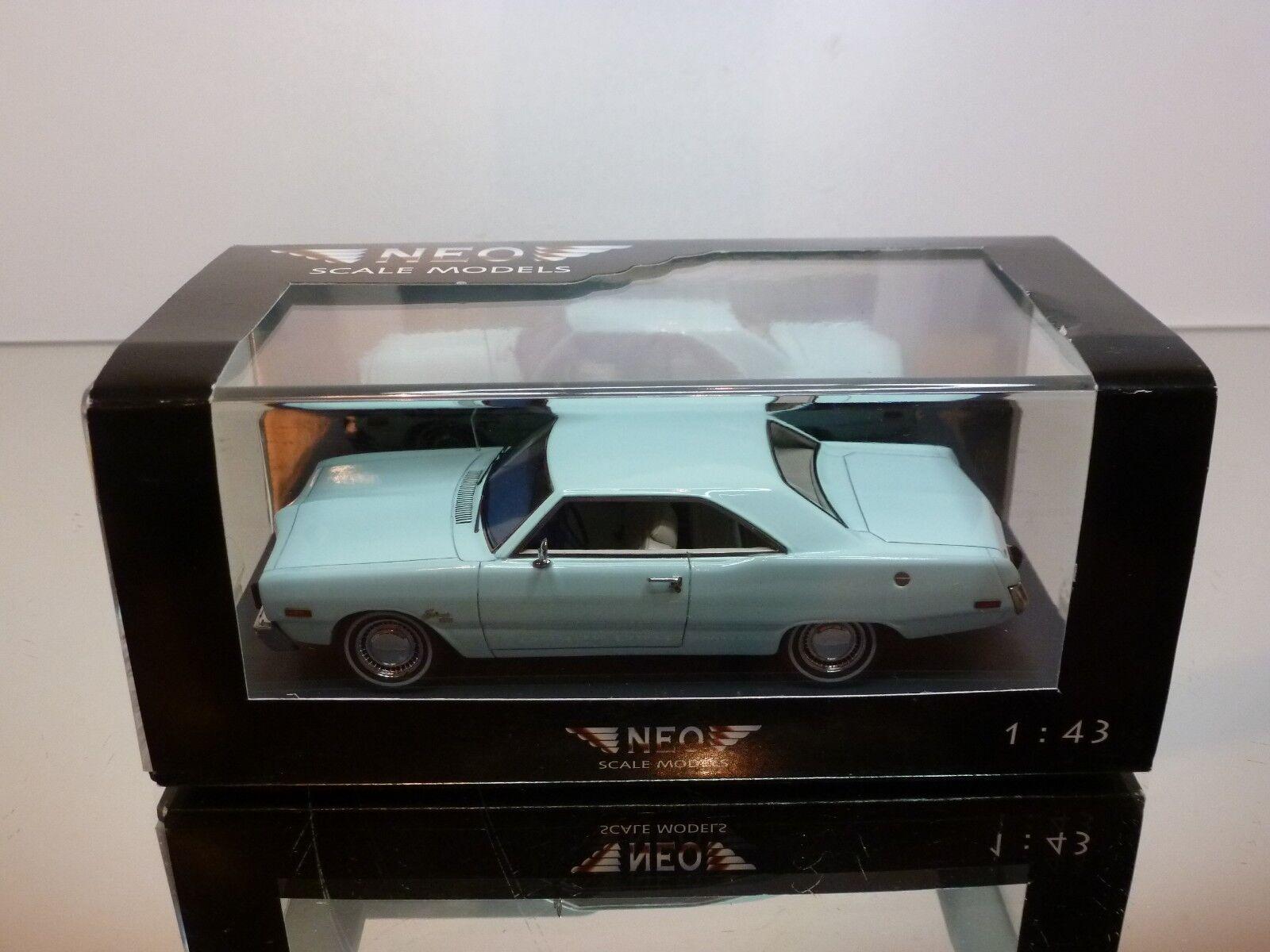 NEO MODELS 44405 DODGE DART SWINGER - LIGHT bleu 1 43 - EXCELLENT IN BOX