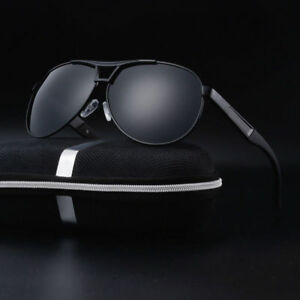 Polarized Sunglasses Men's Retro Aviator Metal Outdoor Drving Eyewear Glasses