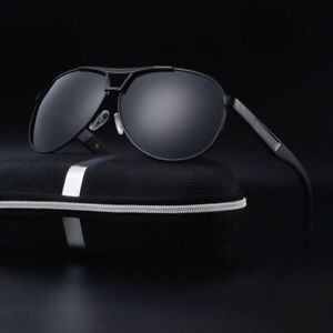 Polarized-Sunglasses-Men-039-s-Retro-Aviator-Metal-Outdoor-Drving-Eyewear-Glasses