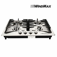 """Windmax 23"""" Stainless Steel 4 Burners Built-In Stoves Natural Gas Cooktop Cooker"""