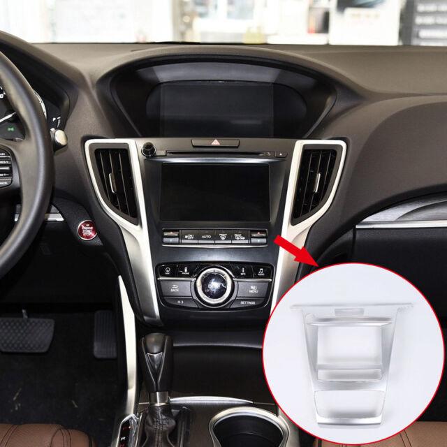 ABS Matte Interior Console Navigation Cover Trim 1pcs For