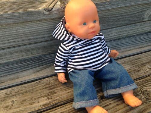 36-38 first Annabell Chou Lotta boy brother Kleidung Hoodie Jeans für Puppen Gr