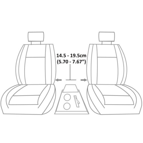 Universal Armrest Centre Console Fits Ford Fusion Galaxy C-Max S-Max