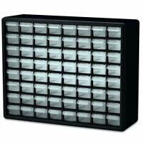 New 64 Drawer Plastic Parts Storage Hardware Craft Cabinet 20x16x6.5Inch Black