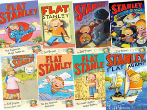 Flat-Stanley-Collection-Set-Pack-by-Jeff-Brown-8-BOOKS