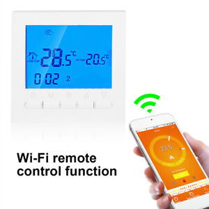 WIFI-Smart-Cronotermostato-Programmabile-Digitale-Screen-Termostato-Bianco