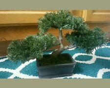 NEW Artificial Japanese Cedar Bonsai Tree FREE SHIPPING Healing Meditation Budda
