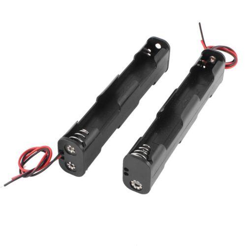 SODIAL 2 Stk Doppel-Schicht Kunststoff 4 x AA 6V Batterie Halter mit Ansc C4 R