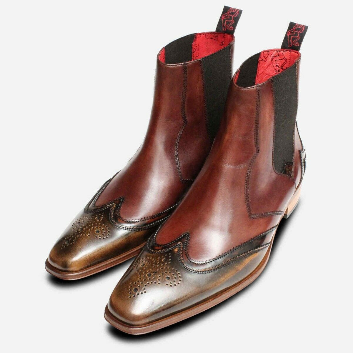 Double West Wingtip braun Jeffery West Double Chelsea Brogues d6d42c