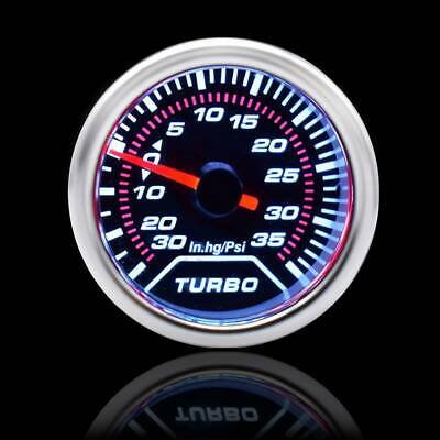 OCPTY Electronic Gauge 2inch 52mm Turbo Boost Gauge 35PSI for Automotive Cars and Vehicles With Color Change Button Without Neddle