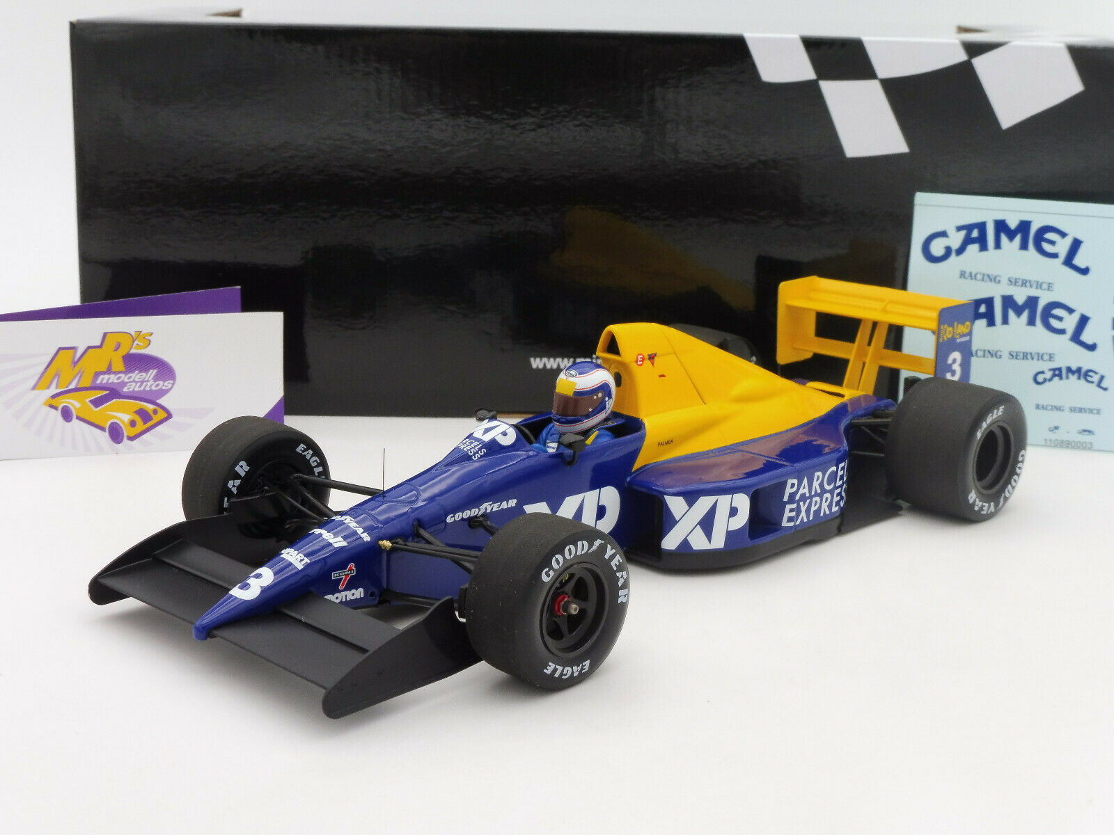 Minichamps 110890003   Tyrrell FORD 018 French GP 1989   J. Palmer   1 18 NEU