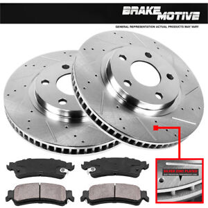 Front-Drill-Slot-Brake-Rotors-Ceramic-For-Chevy-Impala-Monte-Carlo-Lucerne