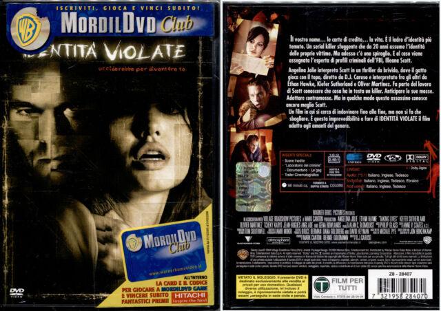 IDENTITA' VIOLATE (Angelina Jolie) - DVD NUOVO E SIGILLATO, PRIMA STAMPA, RARO!