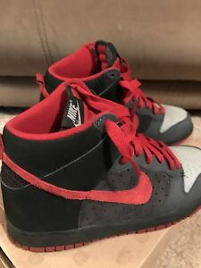 new concept aee72 7a813 Details about Nike Dunk High Grey, Red Black