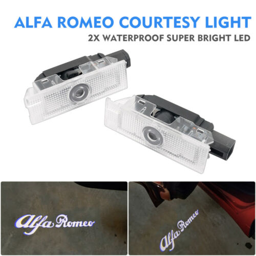 Fit Alfa Romeo Cree LED Projector Car Door Light Courtesy Entrying logo light