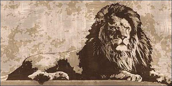 Andrew Cooper  Lion Keilrahmen-Bild Leinwand Raubkatzen Löwe sepia