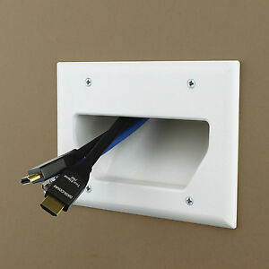 Prime 3 Gang Recessed Wall Low Voltage Cable Plate Tv Audio Wire Plugs Wiring Database Gramgelartorg