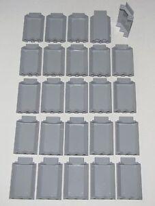 Lego-Lot-Of-25-Nouveau-Clair-Bleuatre-Gris-3-X-3-X-6-Chateau-Murs-Panneau-Pieces