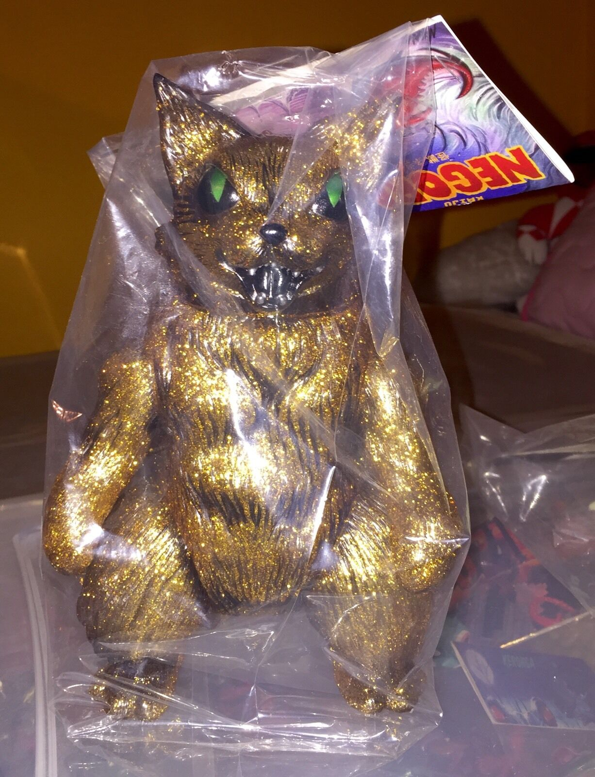 KING NEGORA CAT GOLD GLITTER KAIJU SOFUBI 10