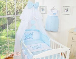 Bobono Krone Babybett Gitterbett Bett Bettwäsche Kleiner Prinz