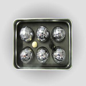 boules spiel 6 metallkugeln und holzkugel ma band tragetasche boccia kugeln neu ebay. Black Bedroom Furniture Sets. Home Design Ideas