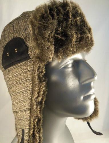 Black Rivet Brown Double Ear Flap Trapper Style Winter Hat by Black Rivet