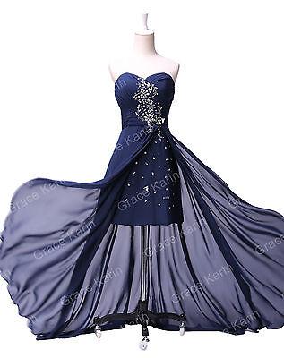 Longue Robe de mariée High LOW Robe de bal Robe de soirée Cocktail Evening Dress