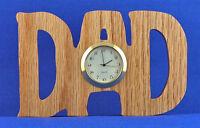 Dad Mini Clock - Hand Cut W/ Choice Of Insert