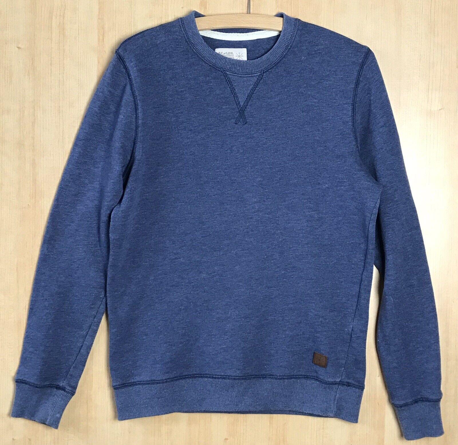 B.C. London Size Small Blue Marl Sweatshirt (Chest 52cm Across).