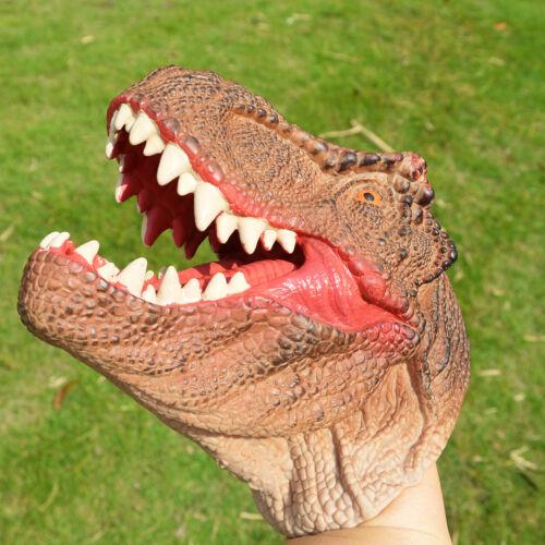 Kid Role Play Gift Dinosaurs Tyrannosaurus Head Glove T-Rex Hand Puppet Xmas Toy