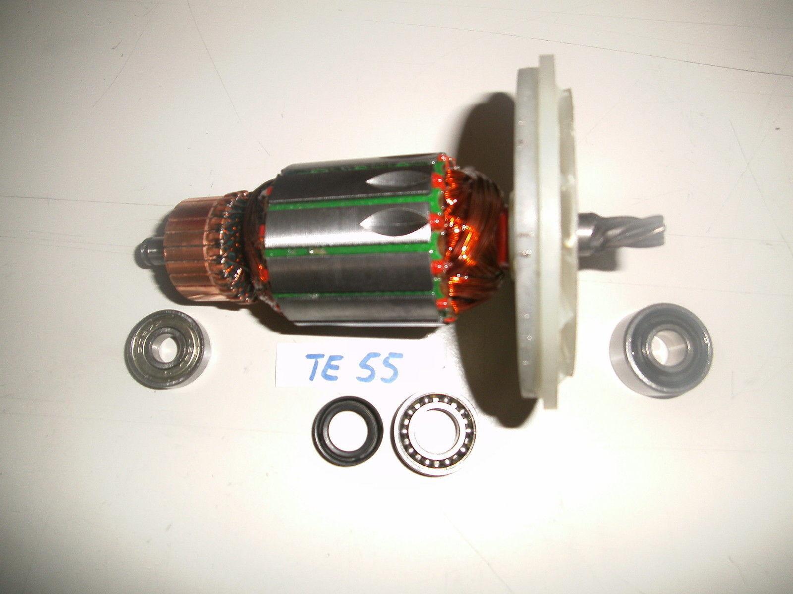 Hilti TE 55 Rotor, Anker+beide Lagern und Lager + Wellendichtring Getriebe
