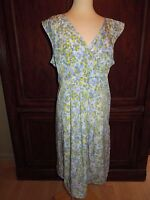 Gap Maternity Summer Light Dress, Blue/lime Size L