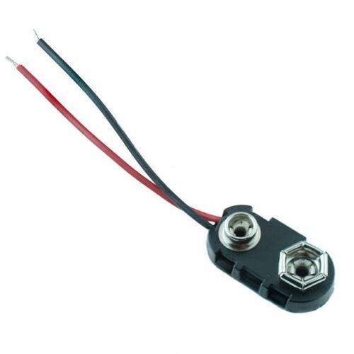 2 x Conector de Clip de Batería PP3 9 V 50 mm