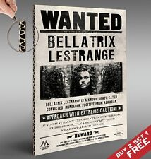 Bellatrix Lestrange Wanted A4 POSTER  Harry Potter Glossy Print Cardboard Backed