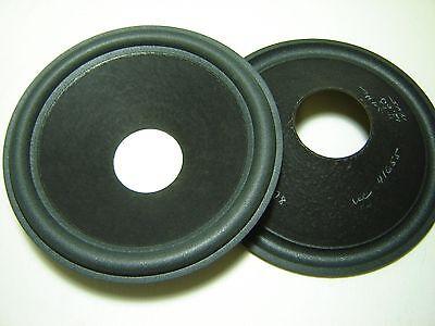 """722158-1 Pair 10/"""" Paper Speaker Cones Recone Parts"""