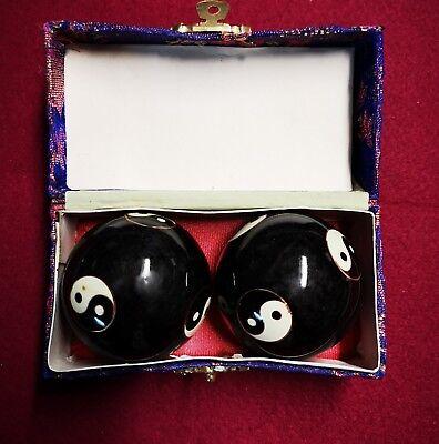 Begeistert Qigong Klang Kugeln Yin-yang Schwarz 50cm