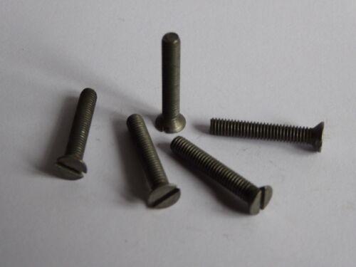 "Quantity 25 3BA Countersunk Steel Screw x 1/"" Long"