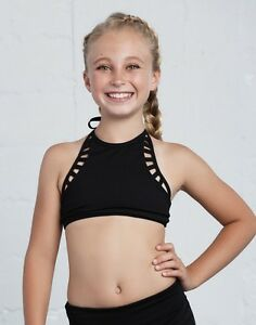 NEW-CALIFORNIA-KISSES-2PC-SO-SPACEY-BLACK-TOP-amp-DANCE-SHORTS-GIRLS-L
