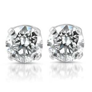 6mm-Clear-CZ-925-Sterling-Silver-Stud-Round-Solitaire-Earrings-Christmas-Gift-UK