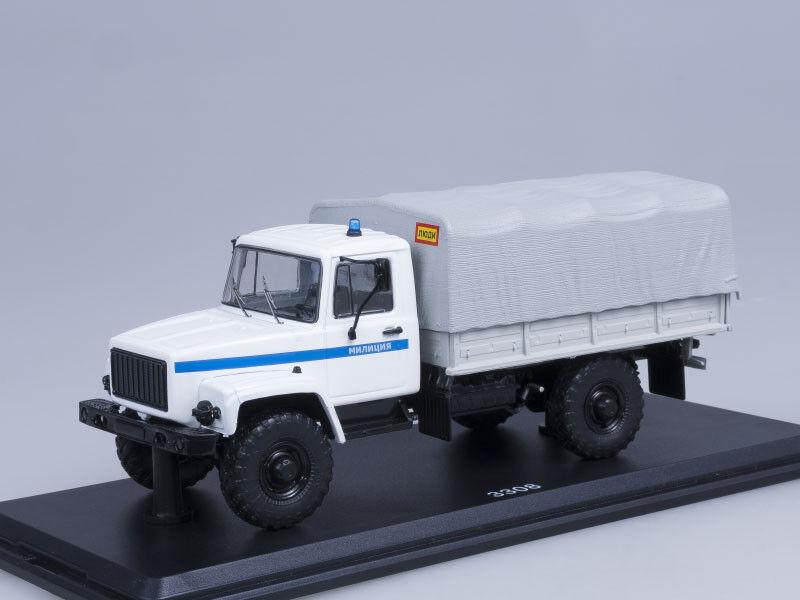 precios al por mayor Modelo de escala camión 1 43 Gaz-3308 Gaz-3308 Gaz-3308 4x4 (motor ZMZ-513), la policía  promociones de equipo