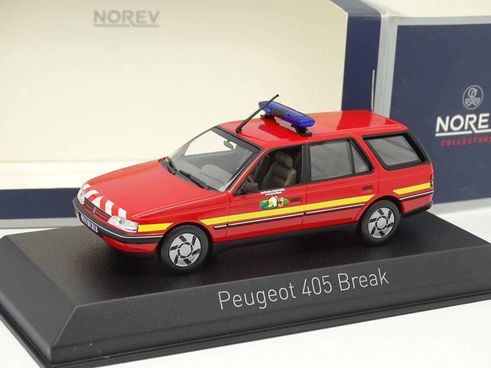 Norev 1 43 - Peugeot 405 Break Pompiers