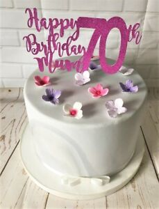 Sensational Happy 70Th Birthday Mum Cake Topper Plant Pick Decoration Funny Birthday Cards Online Aboleapandamsfinfo
